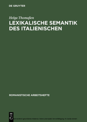 Lexikalische Semantik des Italienischen