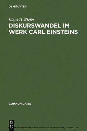 Diskurswandel im Werk Carl Einsteins