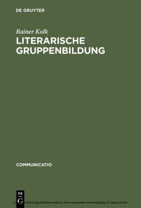 Literarische Gruppenbildung