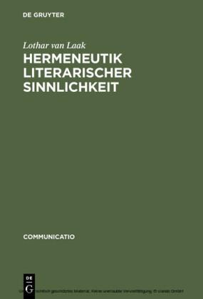 Hermeneutik literarischer Sinnlichkeit