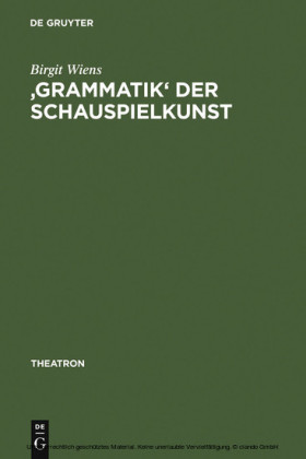 'Grammatik' der Schauspielkunst