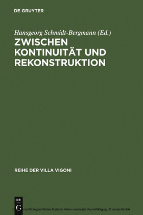 Zwischen Kontinuität und Rekonstruktion