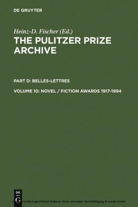 Novel / Fiction Awards 1917-1994