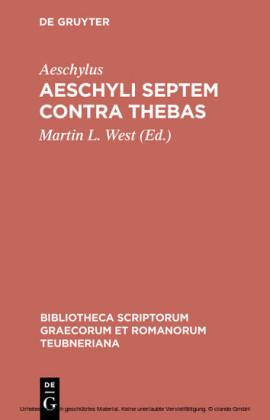 Aeschyli Septem contra Thebas