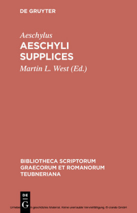 Aeschyli Supplices