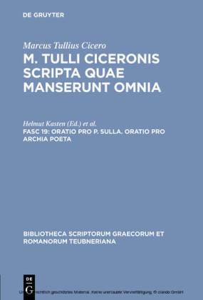 Oratio pro P. Sulla. Oratio pro Archia poeta