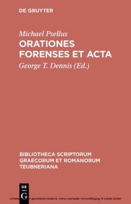 Orationes forenses et acta
