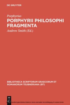 Porphyrii Philosophi fragmenta