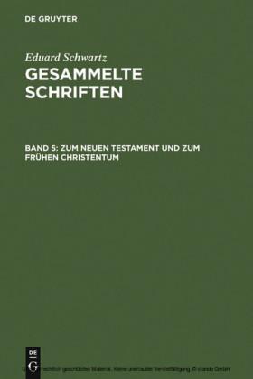 Zum Neuen Testament und zum Frühen Christentum