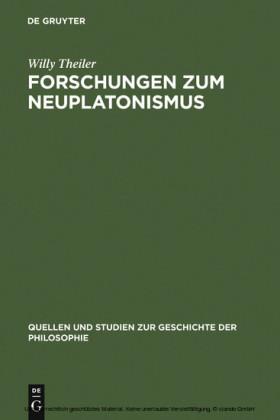 Forschungen zum Neuplatonismus
