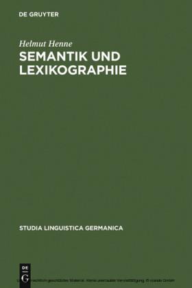 Semantik und Lexikographie