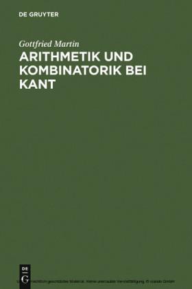 Arithmetik und Kombinatorik bei Kant