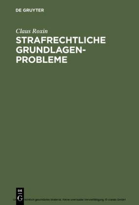 Strafrechtliche Grundlagenprobleme