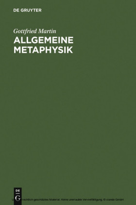 Allgemeine Metaphysik