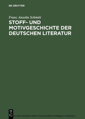 Stoff- und Motivgeschichte der deutschen Literatur