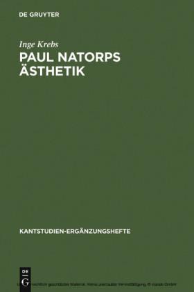Paul Natorps Ästhetik