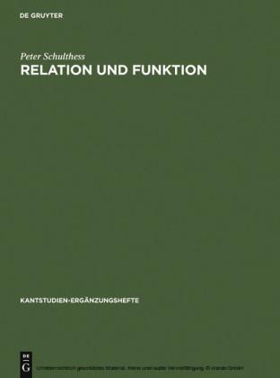 Relation und Funktion