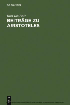 Beiträge zu Aristoteles