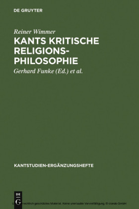 Kants kritische Religionsphilosophie