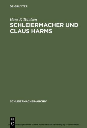 Schleiermacher und Claus Harms