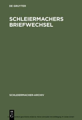 Schleiermachers Briefwechsel