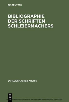 Bibliographie der Schriften Schleiermachers