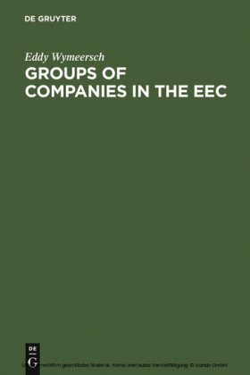 Groups of Companies in the EEC