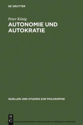 Autonomie und Autokratie