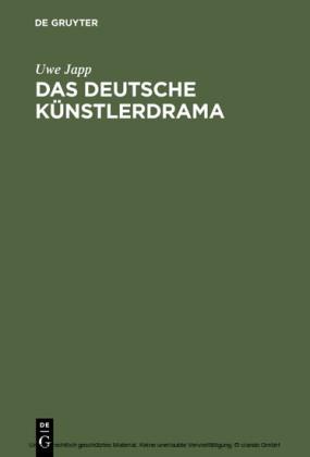 Das deutsche Künstlerdrama