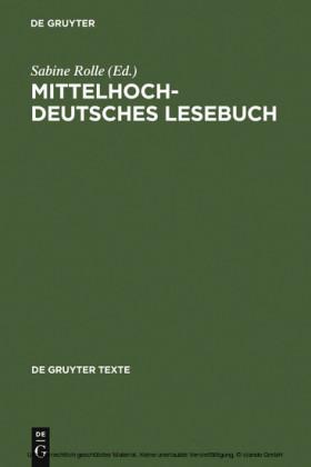 Mittelhochdeutsches Lesebuch