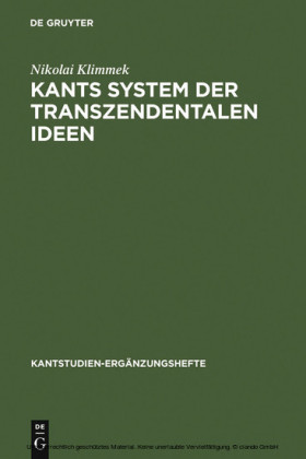Kants System der transzendentalen Ideen