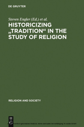 Historicizing 'Tradition' in the Study of Religion