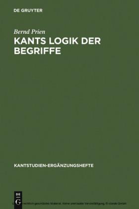 Kants Logik der Begriffe