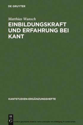 Einbildungskraft und Erfahrung bei Kant