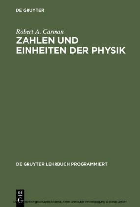 Zahlen und Einheiten der Physik