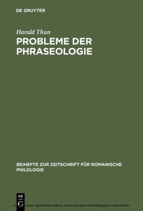 Probleme der Phraseologie