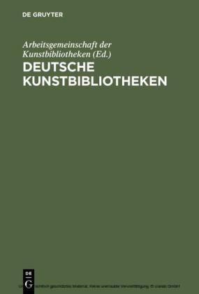 Deutsche Kunstbibliotheken / German Art Libraries