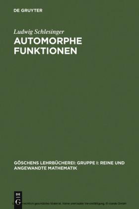 Automorphe Funktionen