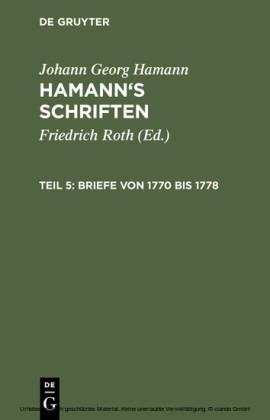 Briefe von 1770 bis 1778