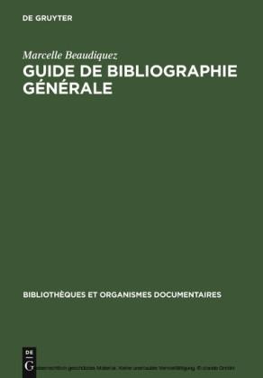 Guide de Bibliographie générale
