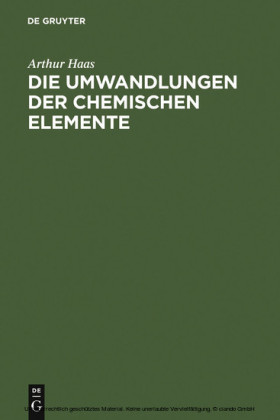 Die Umwandlungen der chemischen Elemente