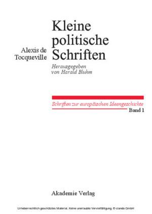 Kleine Politische Schriften