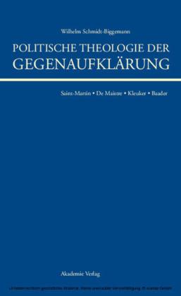 Politische Theologie der Gegenaufklärung