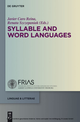 Syllable and Word Languages