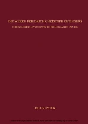 Die Werke Friedrich Christoph Oetingers