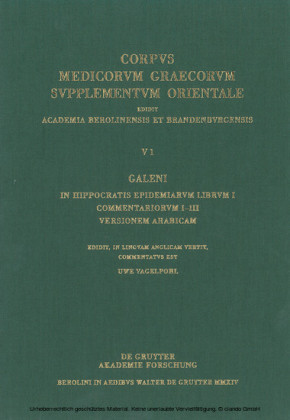 Galeni In Hippocratis Epidemiarum librum I commentariorum I-III versio Arabica / Galen. Commentary on Hippocrates' Epidemics Book I