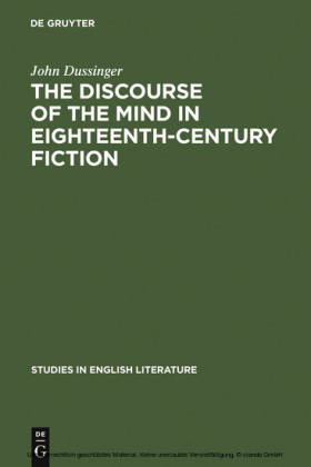 The Discourse of the Mind in Eighteenth-Century Fiction