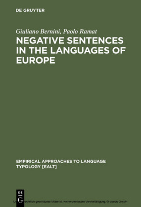 Negative Sentences in the Languages of Europe