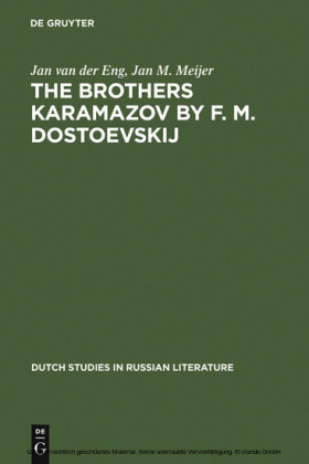 The Brothers Karamazov by F. M. Dostoevskij