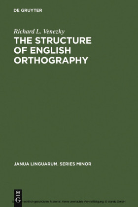 The Structure of English Orthography